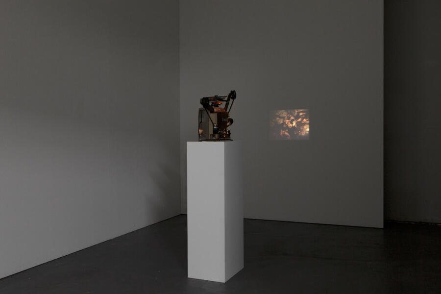 Clément Cogitore, installation view Kunsthaus Baselland 2019, photo: Gina Folly